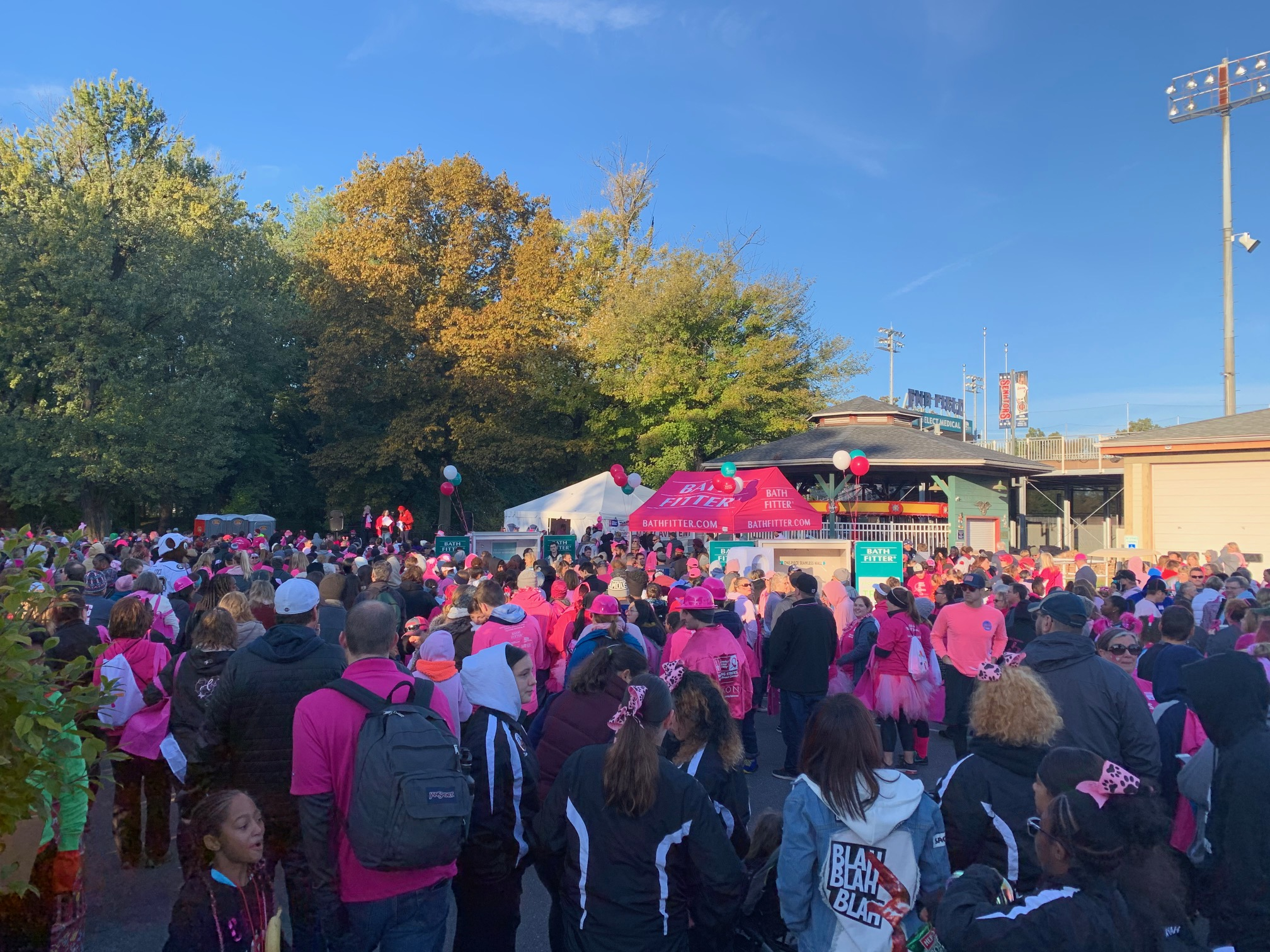 The Sea of Breast Cancer Warriors & Survivors