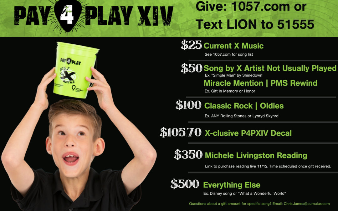 Join Donegal and Support 105.7 The X's Pay 4 Play XIV