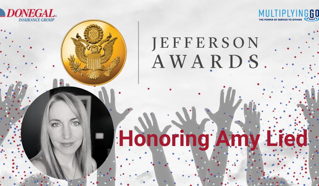 Honoring Amy Lied, Donegal Jefferson Award Winner
