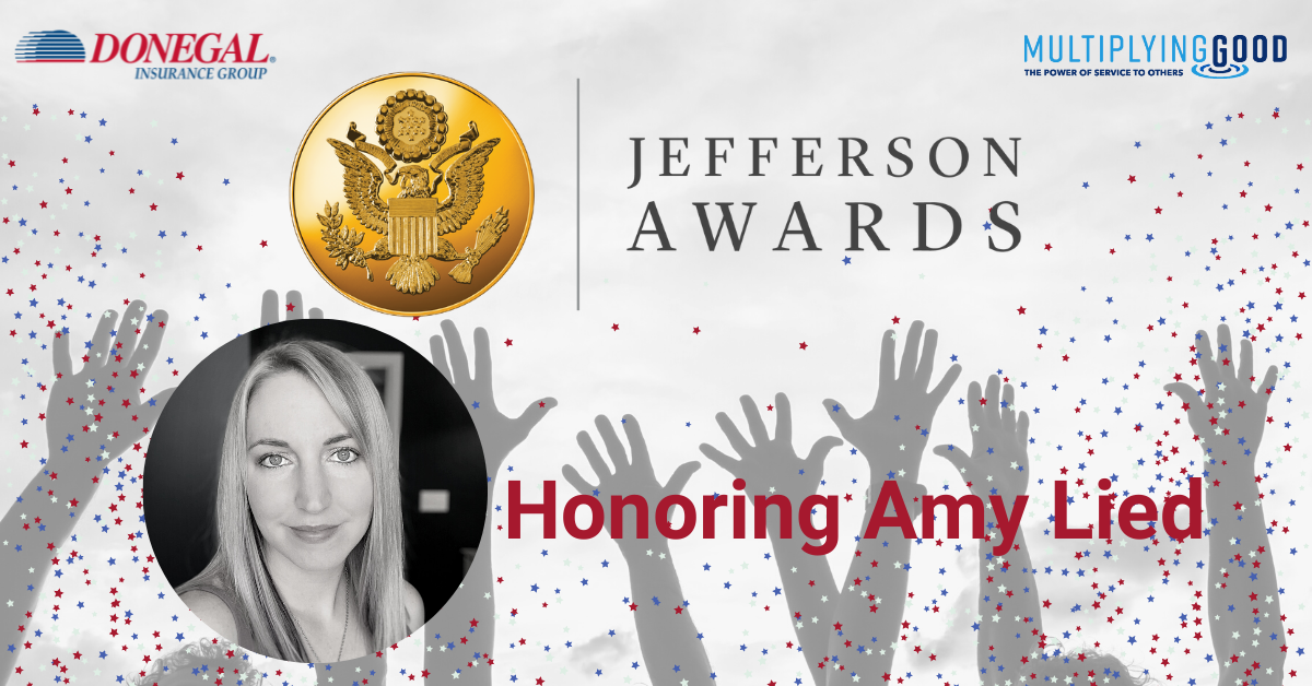 Amy Lied Jefferson Award Winner